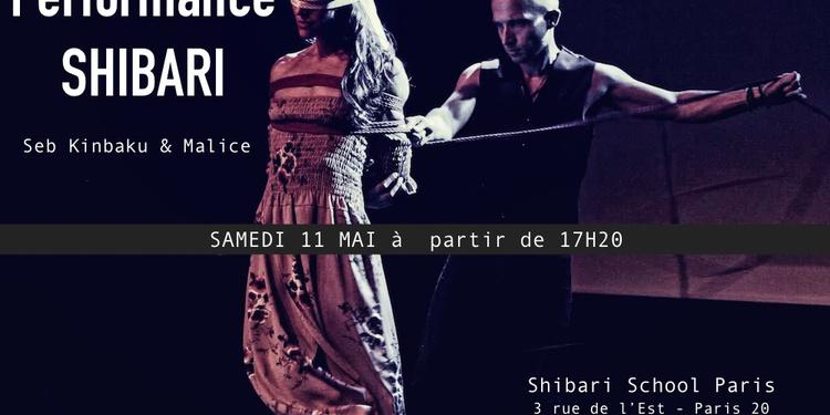 Performance shibari avec Seb Kinbaku & Malice