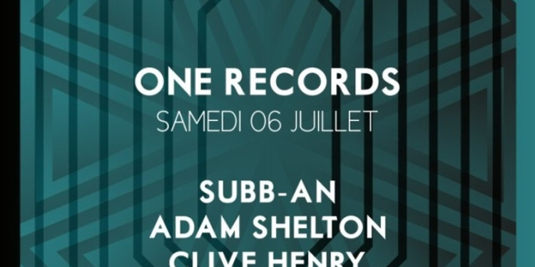 One Records : Subb-An, Adam Shelton,  Clive Henry & Alex  Arnout