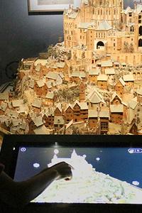 Installation numérique autour du plan-relief du Mont Saint-Michel - Musée des Plans-Reliefs - du vendredi 26 juillet 2019 au mercredi 31 décembre 2025