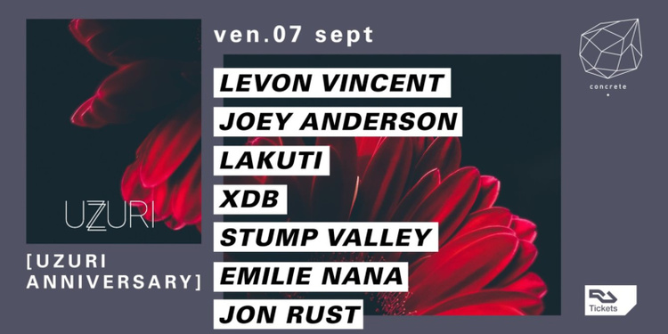 Concrete x Uzuri Aniversary: Levon Vincent, Joey Anderson, XDB, Stump Valley, Jon Rust