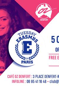 TUESDAY ERASMUS IN PARIS - Café Oz Denfert-Rochereau - mardi 5 octobre