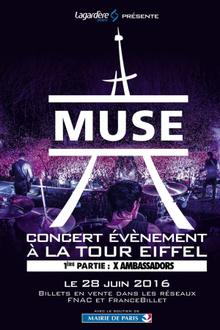 Muse en concert à la Tour Eiffel