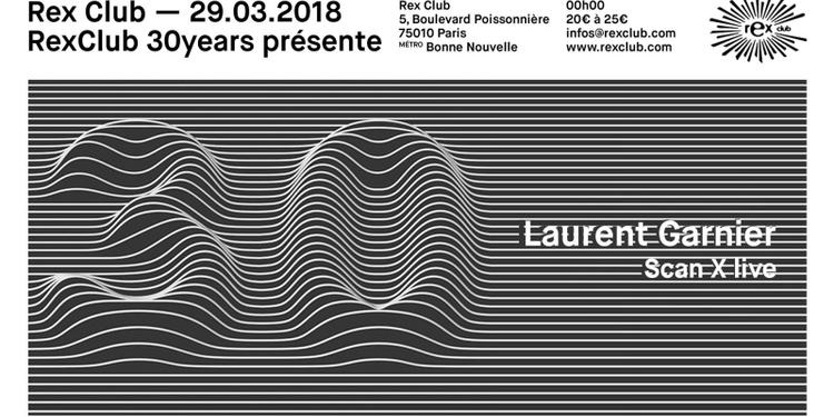 Rex Club 30 Years Présente: Laurent Garnier, Scan X Live