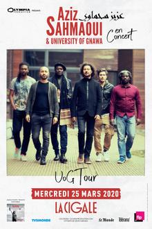 Aziz Sahmaoui & University of Gnawa en concert à la Cigale
