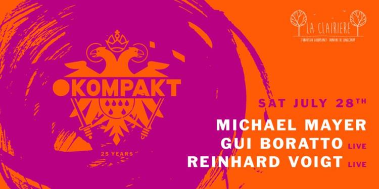 La Clairière x Kompakt 25 Years : Michael Mayer, Gui Boratto