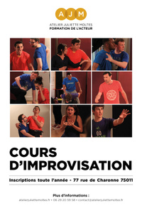 Cours d'Improvisation Amateur - Atelier Juliette Moltes - du jeudi 8 octobre 2020 au lundi 21 juin