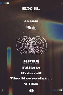EXIL: Kobosil, The Horrorist Live, VTSS, Airod & Félicie
