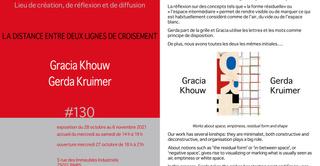 La distance entre deux lignes de croisement: Gracia Khouw et Gerda Kruimer