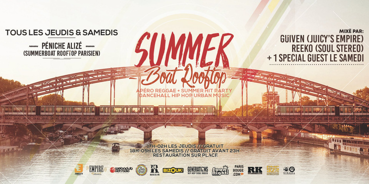 afterwork reggae summer boat rooftop party