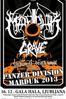 Marduk + grave + Valkyrja + Death Wolf + guest