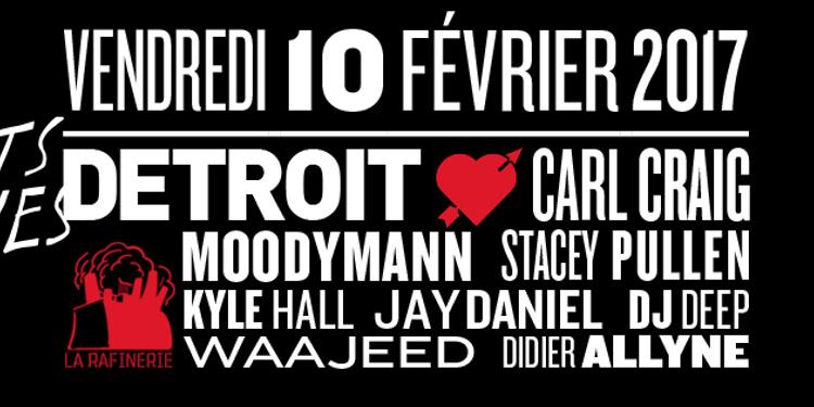 Detroit love : Carl Craig, Moodymann, Kyle Hall, Jay Daniel