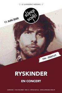 Ryskinder en concert au Supersonic (Free entrance) - Le Supersonic - jeudi 11 juin