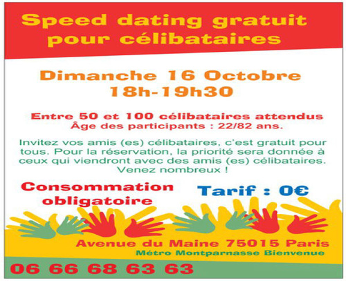 speed dating paris dimanche