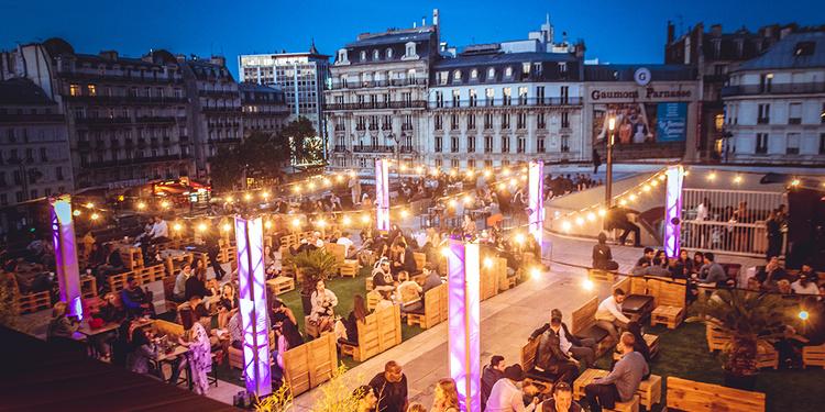 LA TERRAZZA MOJITO SUR LES TOITS DE PARIS (TERRASSE GEANTE / ROOFTOP / MOJITOS / BURGERS / GRATUIT)