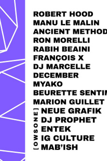 Samedimanche: Robert Hood, Manu le Malin, Ancient Methods,Ron Morelli