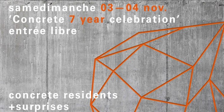 Samedimanche Concrete 7 Year Anniversary
