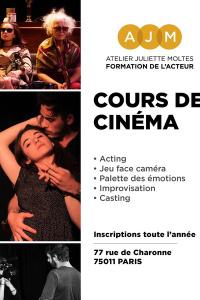Cours de cinéma Amateur - Atelier Juliette Moltes - du mercredi 7 octobre 2020 au lundi 21 juin