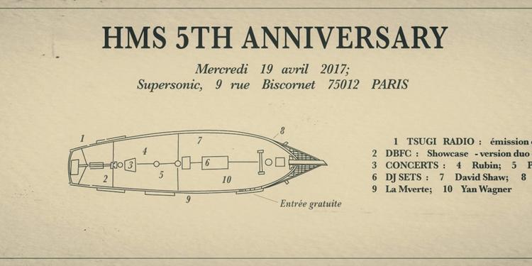 HMS 5th Anniversary! Rubin, Paprika Kinski, HMS DJs, Tsugi Radio