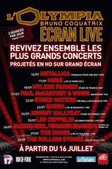 Johnny Hallyday - Olympia Ecran Live