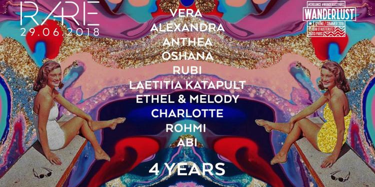 Ra+Re 4 years anniversary : Vera, Alexandra, Anthea, Rohmi, Molly