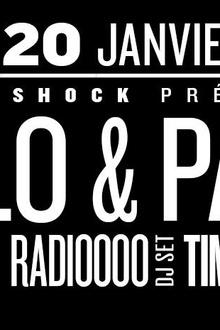 Ekleroshock présente Polo & Pan, Tshegue, Tim Paris, Radiooooo