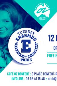 TUESDAY ERASMUS IN PARIS - Café Oz Denfert-Rochereau - mardi 12 octobre