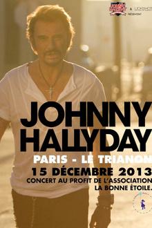 Johnny Hallyday en concert au profit de l'association La Bonne Etoile