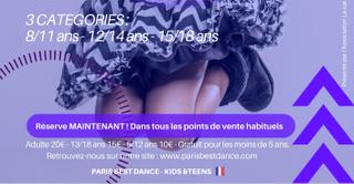 Paris Best Dance - Kids & Teens - Concours Chorégraphique pour les 8/18 ans