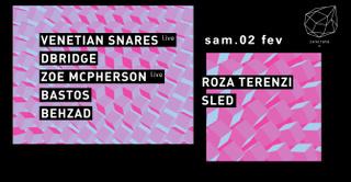 Concrete: Venetian Snares Live, Dbridge, Zoe Macpherson Live
