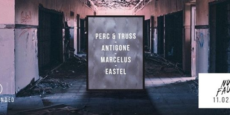 Open minded : Perc & truss, Antigone, Marcelus, eastel