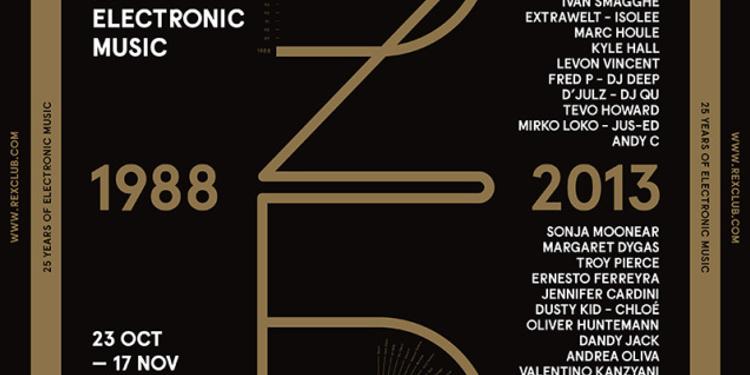 Rex Club '25 Years': Nina Kraviz, Omar S, Jus-Ed, Jacques Bon