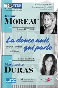 La Douce Nuit qui Parle - Théâtre de la Boutonnière - du mardi 15 juin au mercredi 23 juin