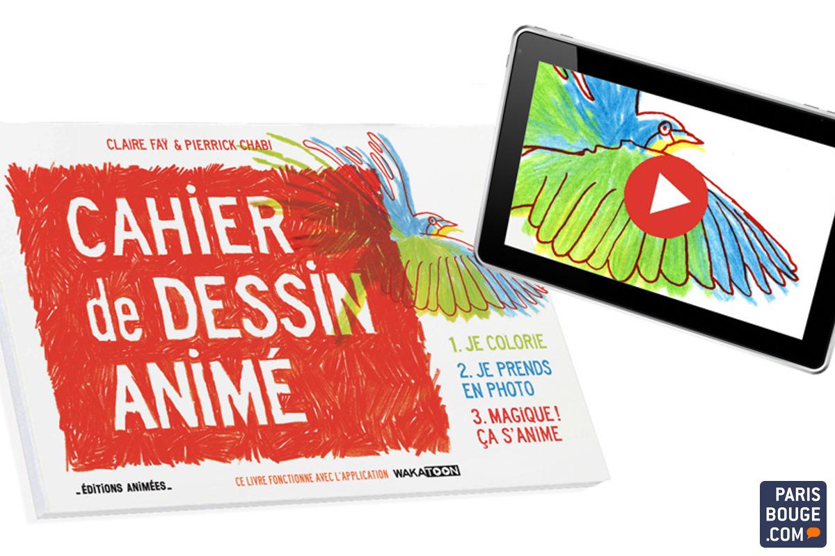 Cahier Animé Les Coloriages Des Enfants Saniment Sur Tablettes