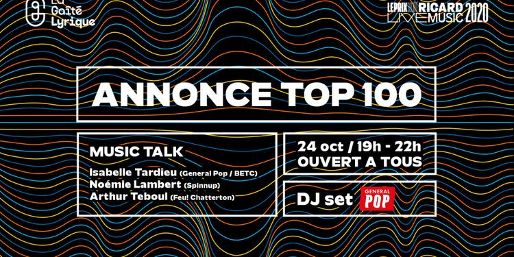 Prix Société Ricard Live Music – Soirée et annonce TOP 100