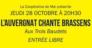 La Coopérative de Mai présente : L'Auvergnat chante Brassens !
