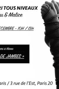 """Atelier Shibari Paris spécial """"Contraintes de Jambes"""" - Shibari School / Seb Kinbaku - dimanche 15 décembre"""