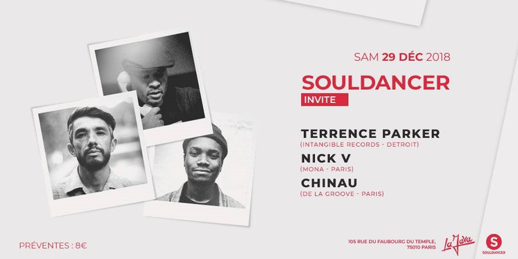 Souldancer Invite Terrence Parker, Nick V, Chinau