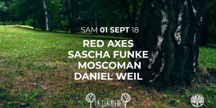 La Clairière : Red Axes, Sascha Funke, Moscoman, Daniel Weil