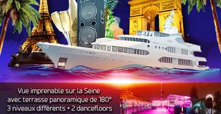 PARIS BOAT SUMMER PARTY ( FILLES > GRATUIT, 2 AMBIANCES CLUB, TERRASSE GÉANTE PANORAMIQUE)