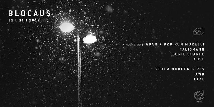 Concrete x Blocaus: Adam X b2b Ron Morelli, Talismann, ABSL, AWB
