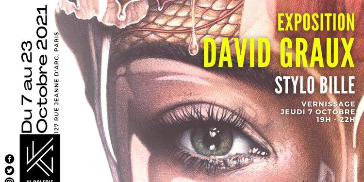 Exposition David Graux, dessins au stylo bille