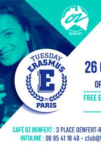 TUESDAY ERASMUS IN PARIS - Café Oz Denfert-Rochereau - mardi 26 octobre
