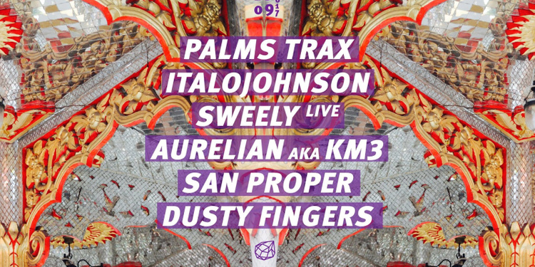Concrete: Palms Trax, ItaloJohnson, Sweely live, San Proper
