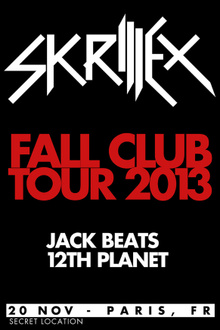 Skrillex Fall Club Tour 2013