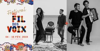Rachele Andrioli & Rocco Nigro // Joao Cavalcanti & Marcelo Caldi - Festival Au Fil Des Voix