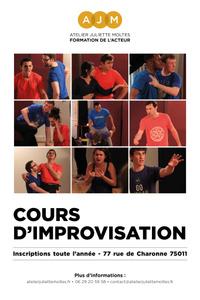Cours d'Improvisation Amateurs - Atelier Juliette Moltes - du lundi 14 décembre 2020 au lundi 21 juin