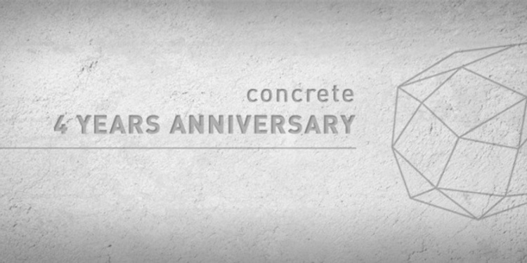 Concrete 4 years anniversary