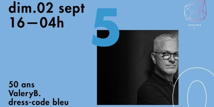 Concrete: 50 ans Valéry B, 50 Artistes en Open Platines