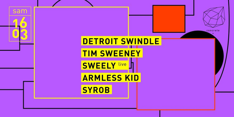 Concrete: Detroit Swindle, Tim Sweeney, Sweely Live, Armless Kid